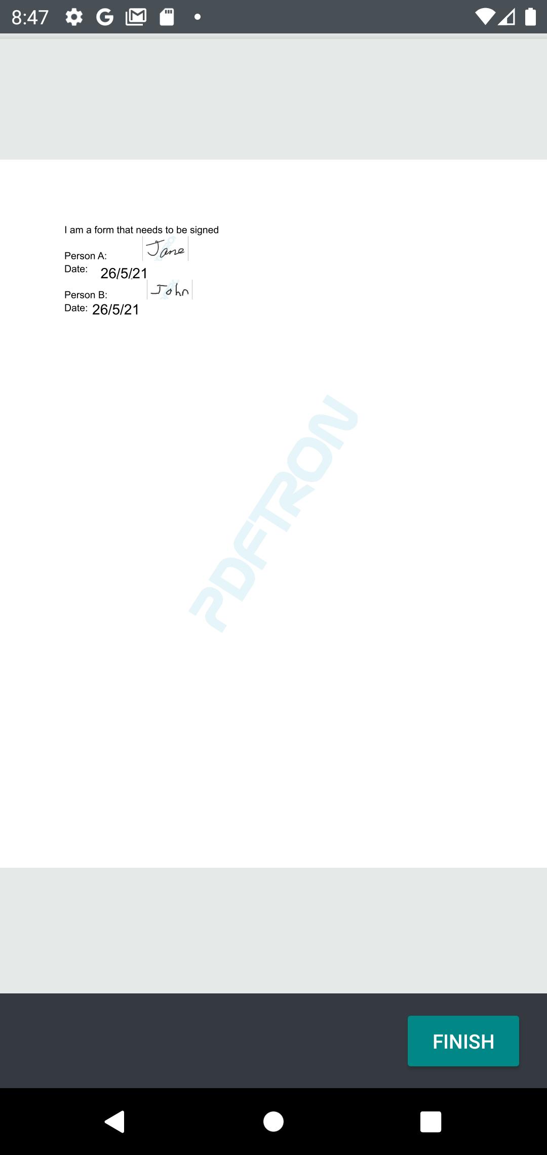 PDFTron Signing App